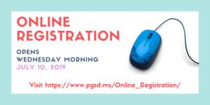 Online Registration Opens Wednesday, July 10