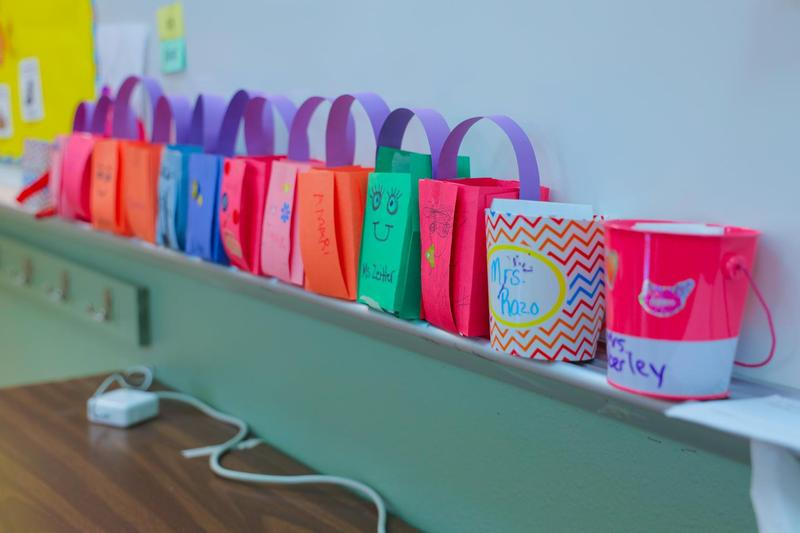 Taylor Middle School Kindness buckets