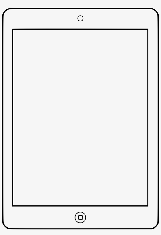 Blank white iPad