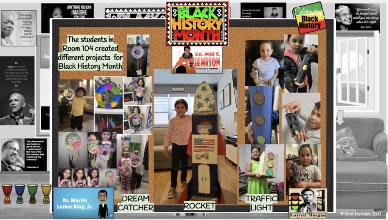 Black history month celebration collage