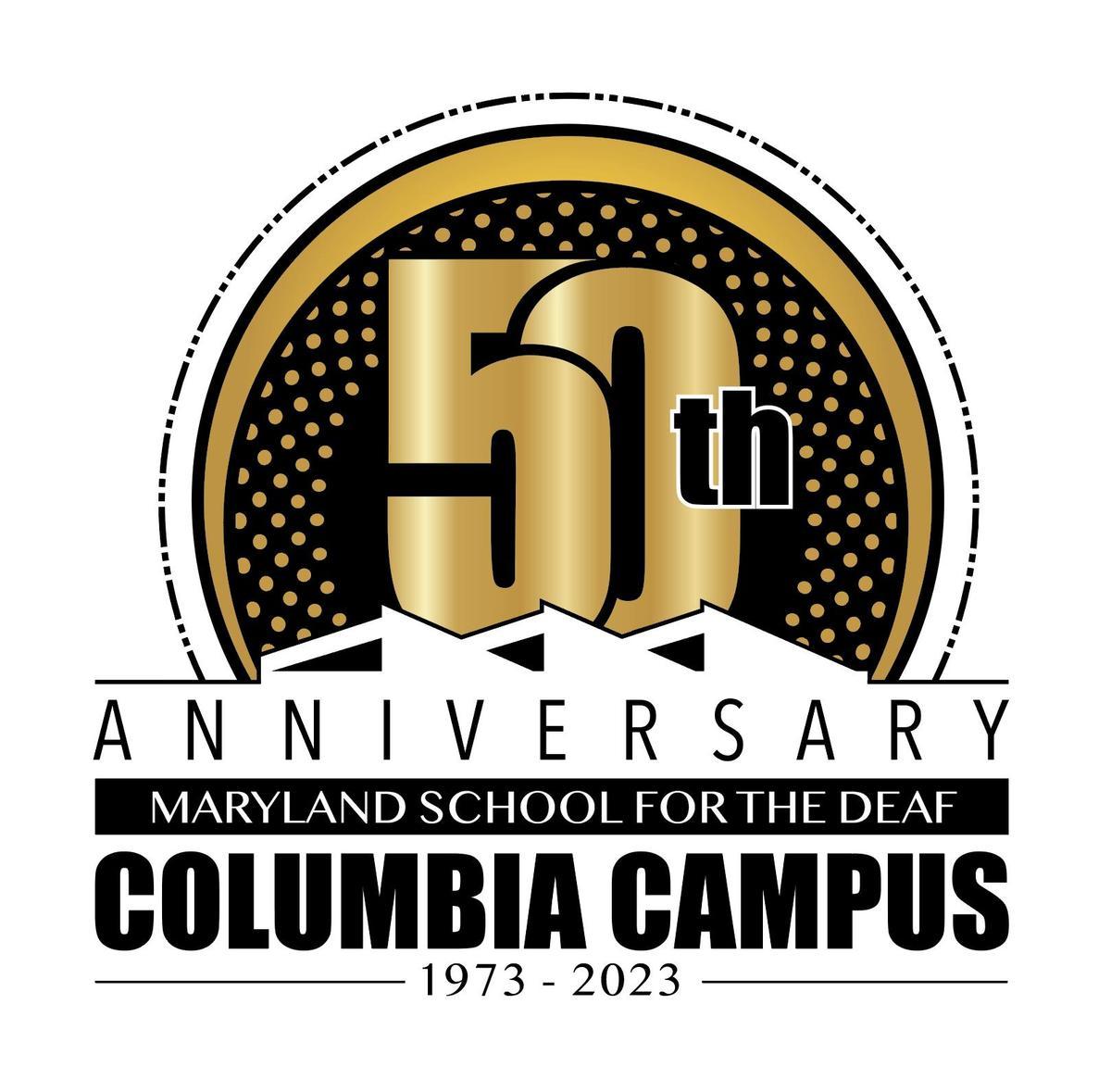 MSD Columbia Campus 50th Anniversary Logo