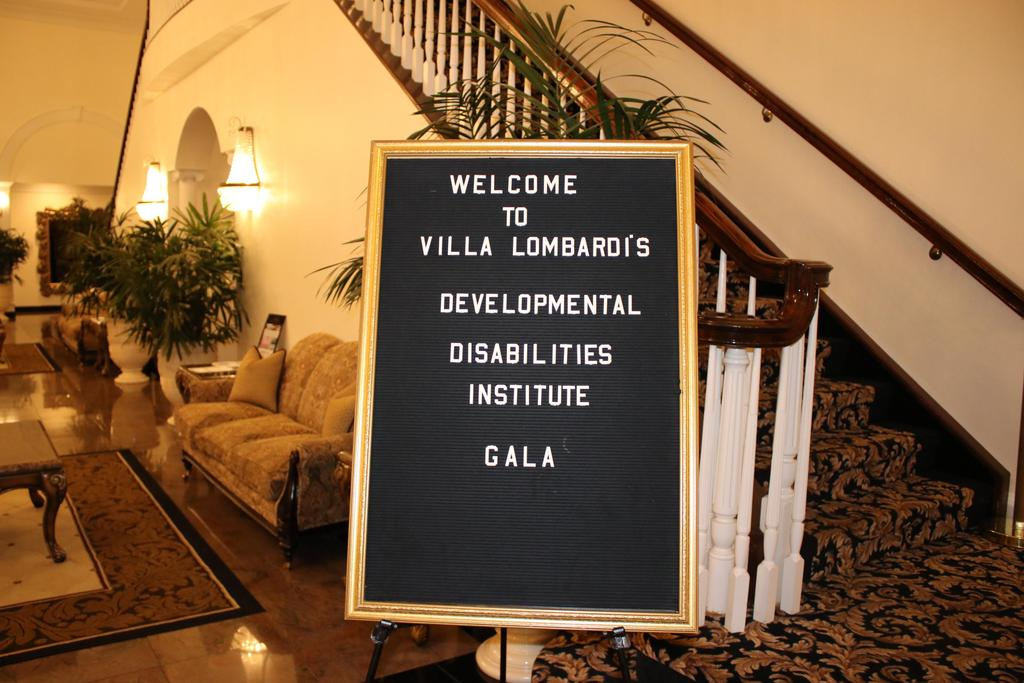 Welcome sign for DDI to Villa Lombardi's