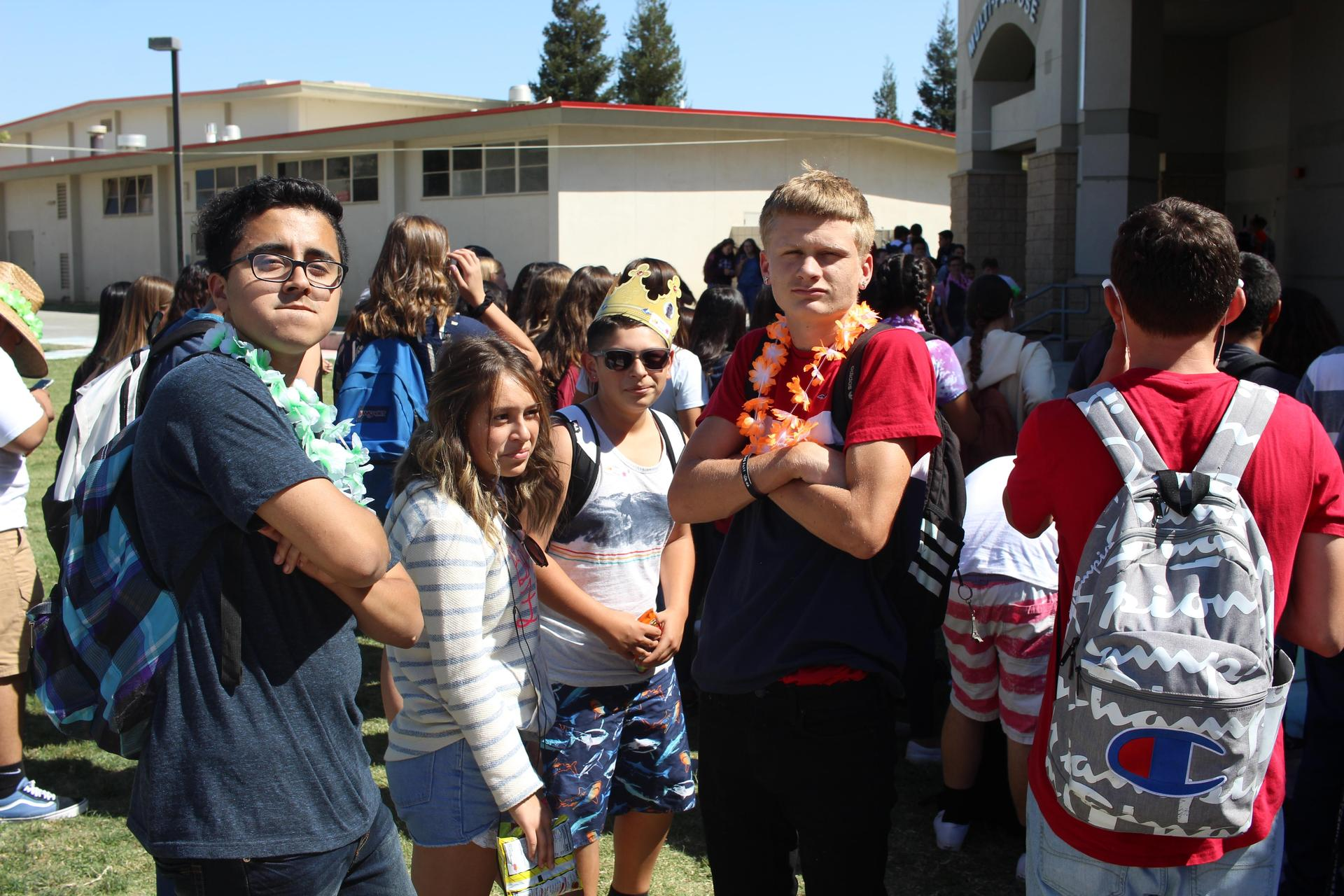 Students dressed up for Homecoming