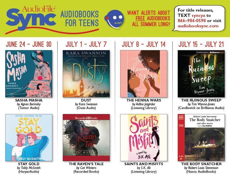 Audiobooksync June 24 July 21