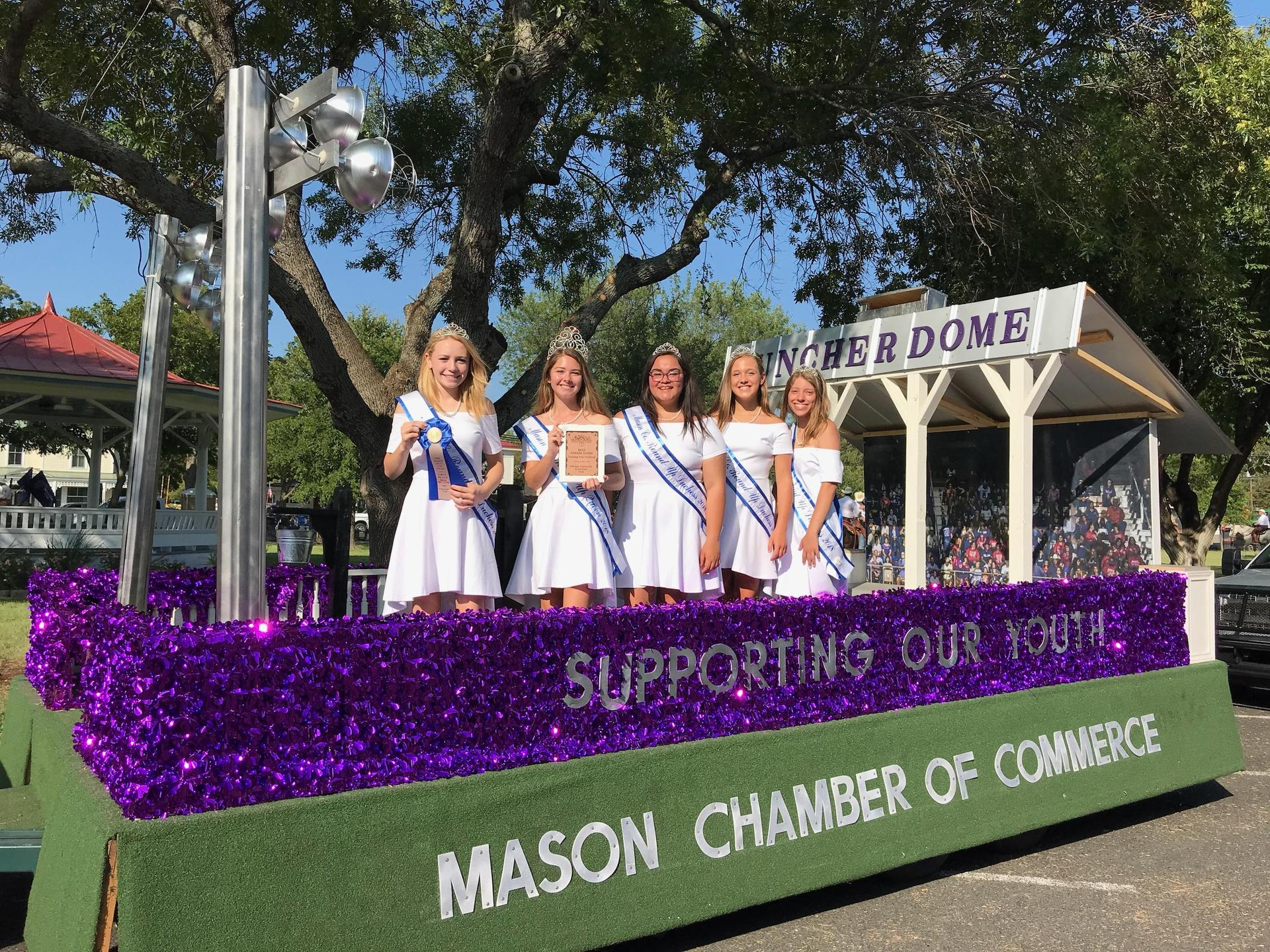 MHS girls representing Mason County in Gillespie County Fair Parade
