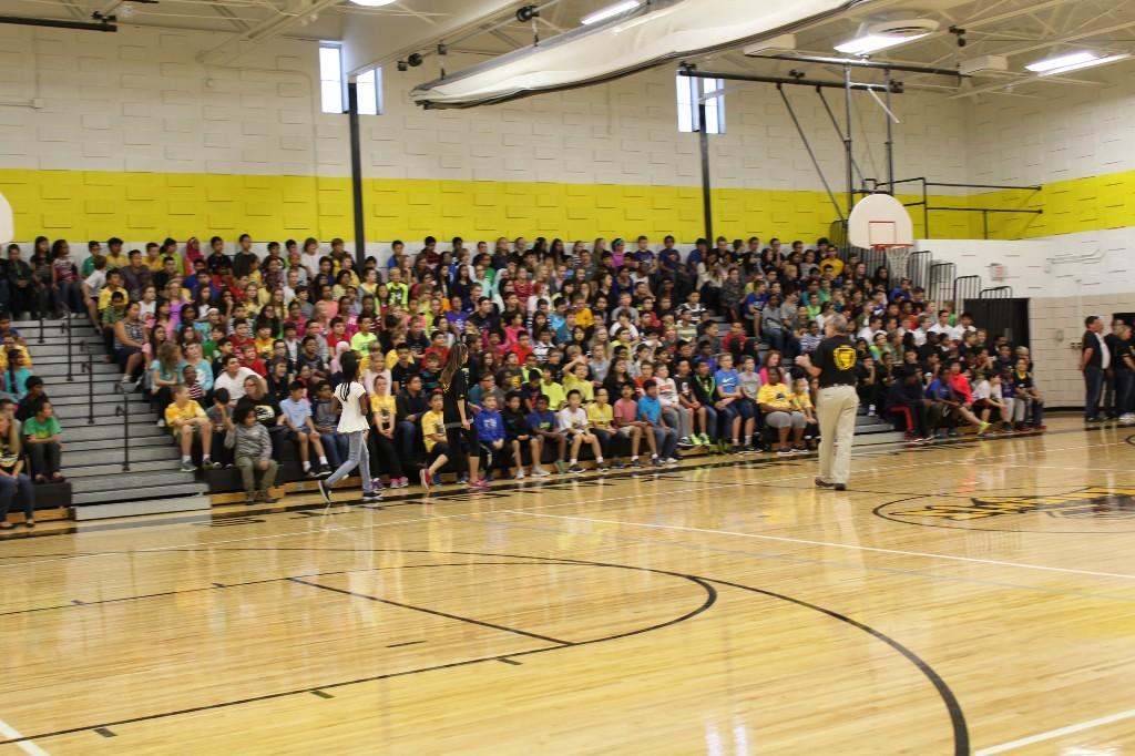 2015 Assembly in the gym
