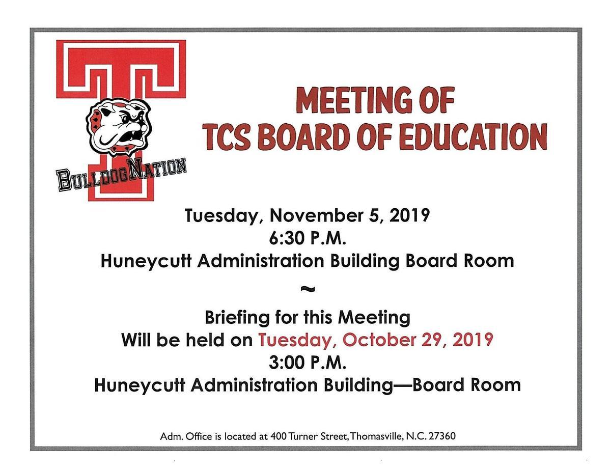 November BOE Meeting Announcement
