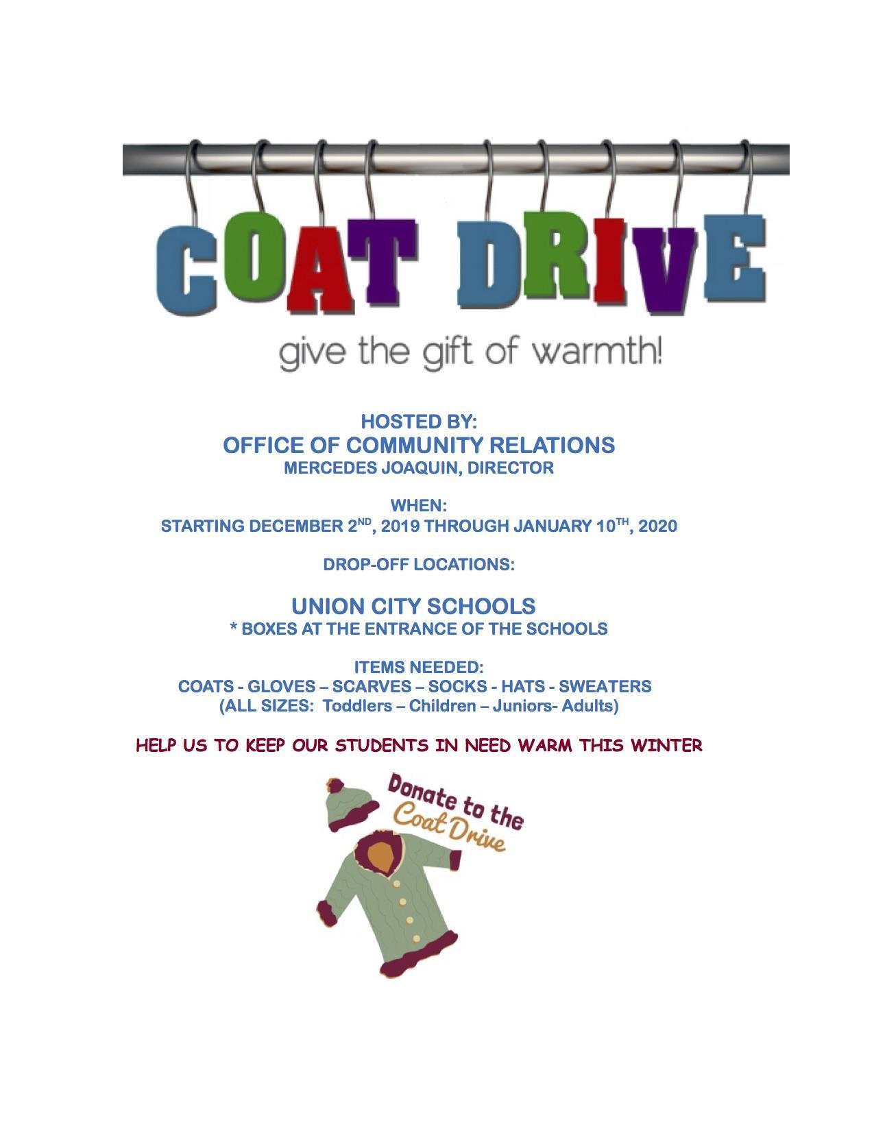 coat drive flyer