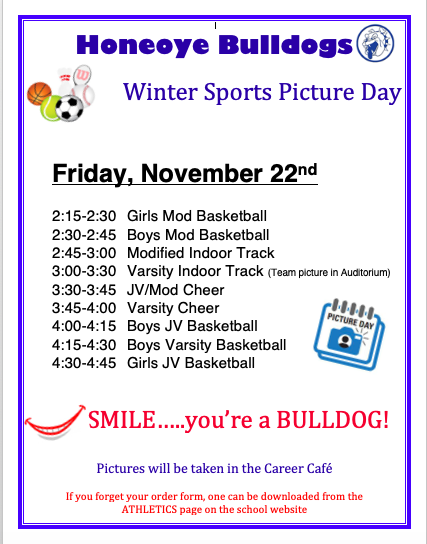 Winter Sports Picture Day Info
