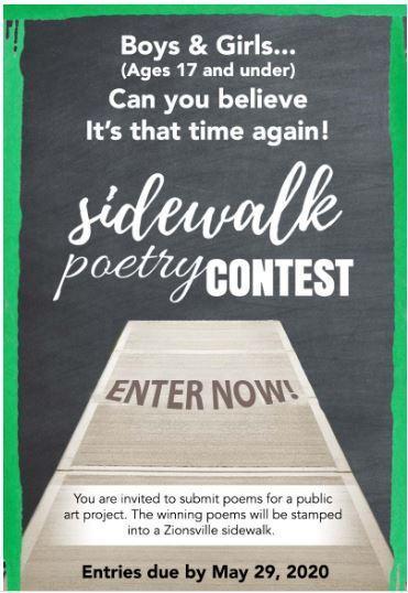 Sidewalk Poetry Contest