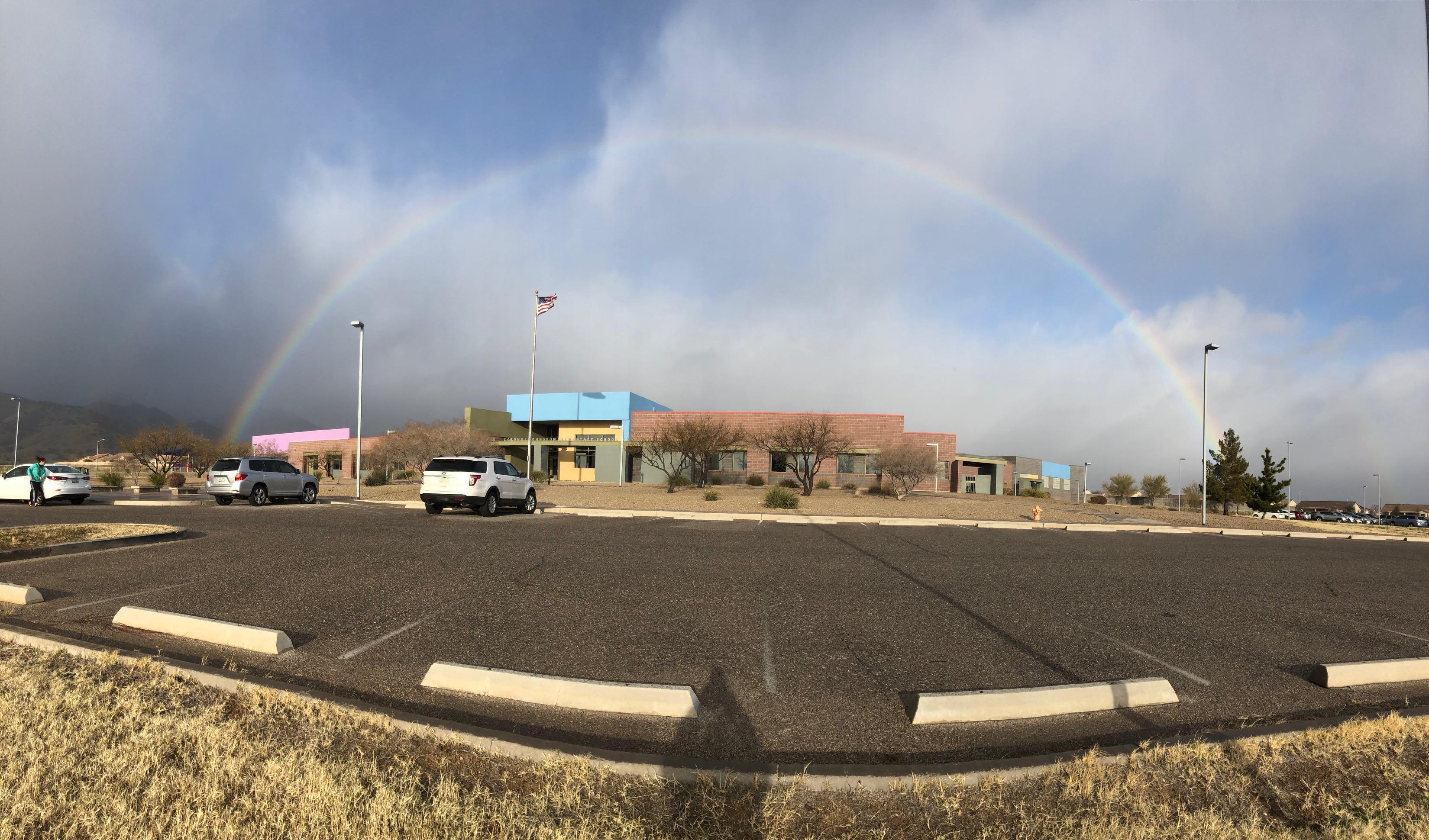 Rainbow over CJES