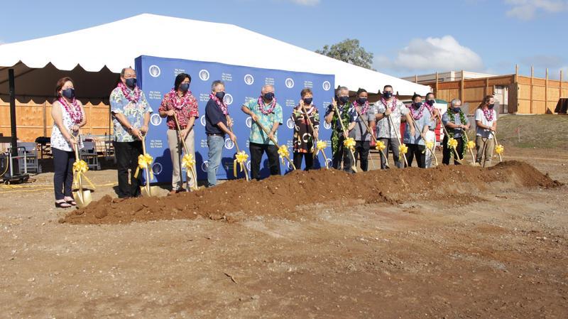 Groundbreaking Ceremony Photo at Waipahu High School