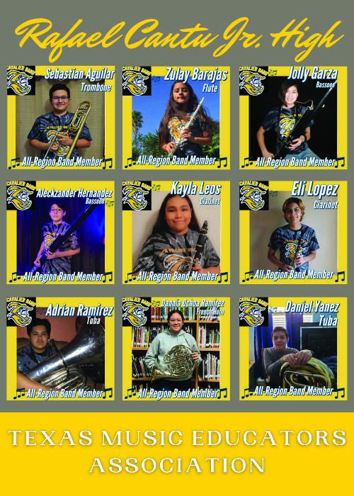 RCJH TMEA All-Region Band graphic