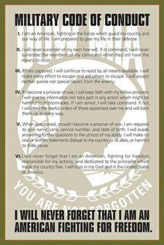 Military Code of Conduct