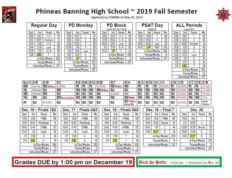 2019-2020 BHS Bell Schedules Featured Photo
