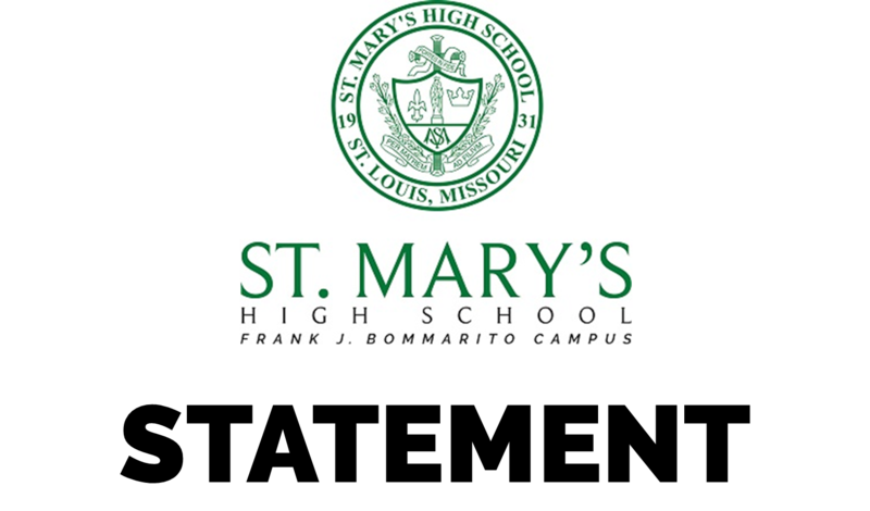 Statement from St. Mary's