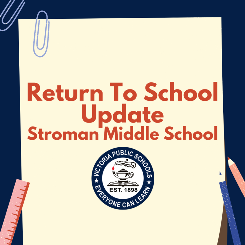 Return To School Update for Stroman Middle School Thumbnail Image