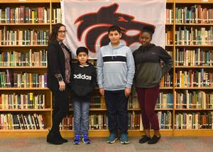 students of the month-middle school