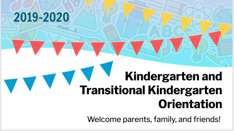Oster Kindergarten and Transitional Kindergarten Orientation Featured Photo