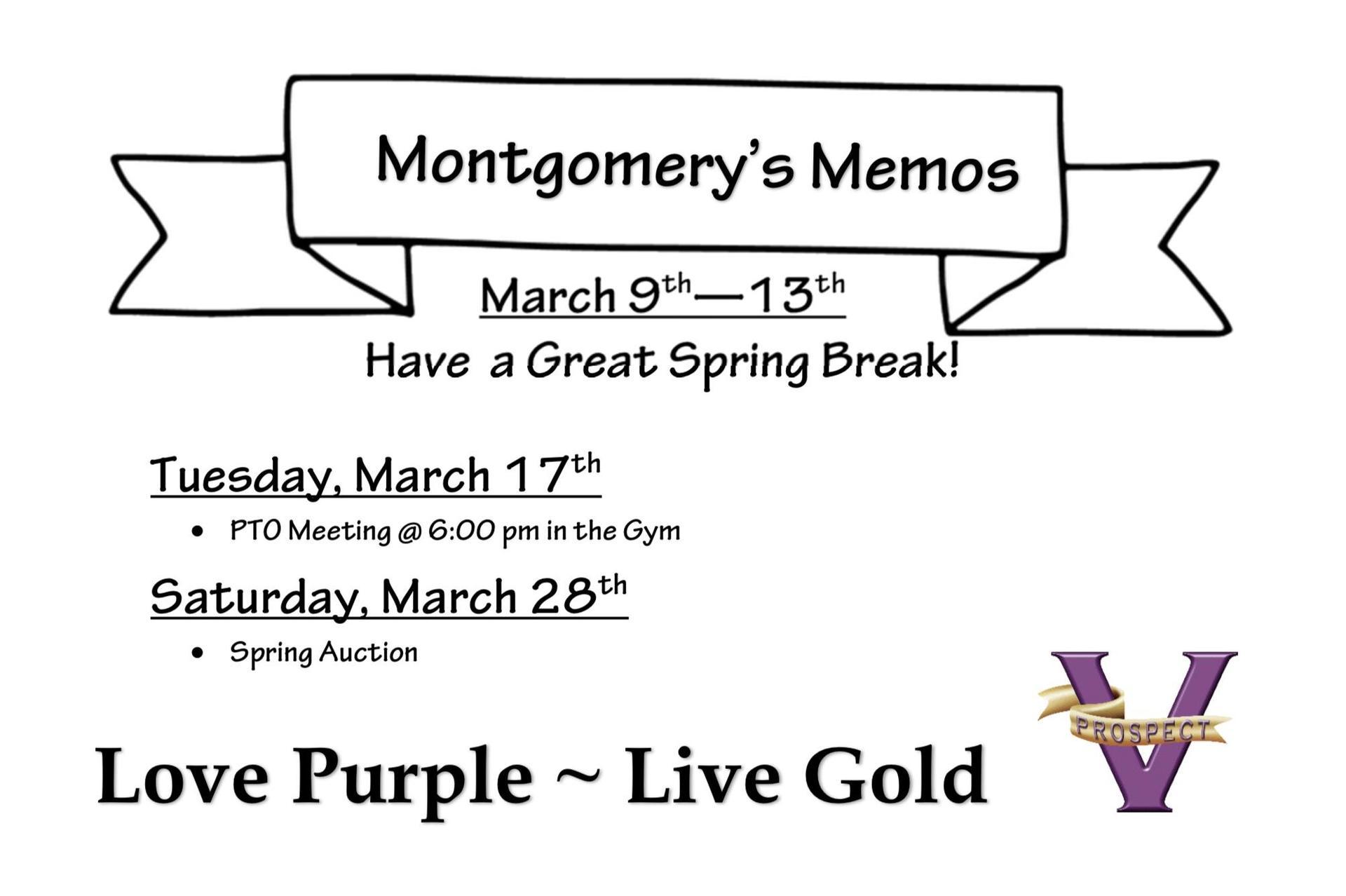 Montgomery's Memos 03-09-2020