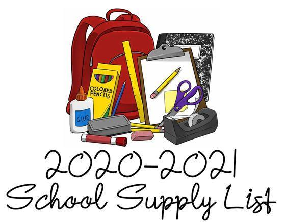 School Supply List – Students – Columbus Elementary School