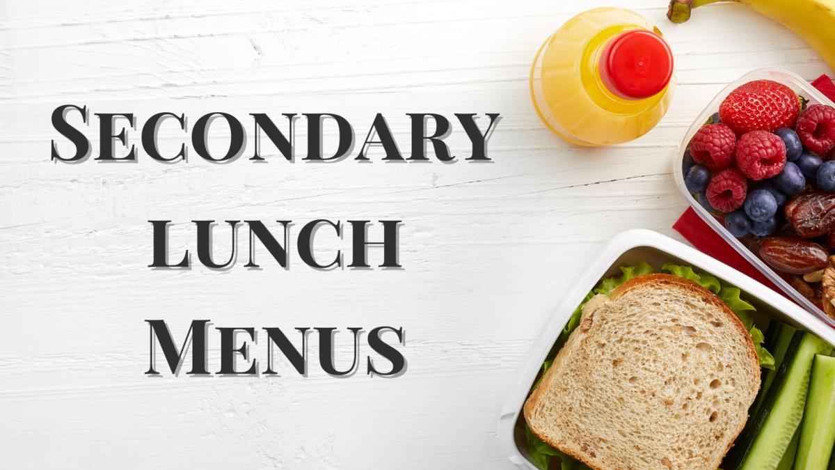 Secondary Lunch Menus