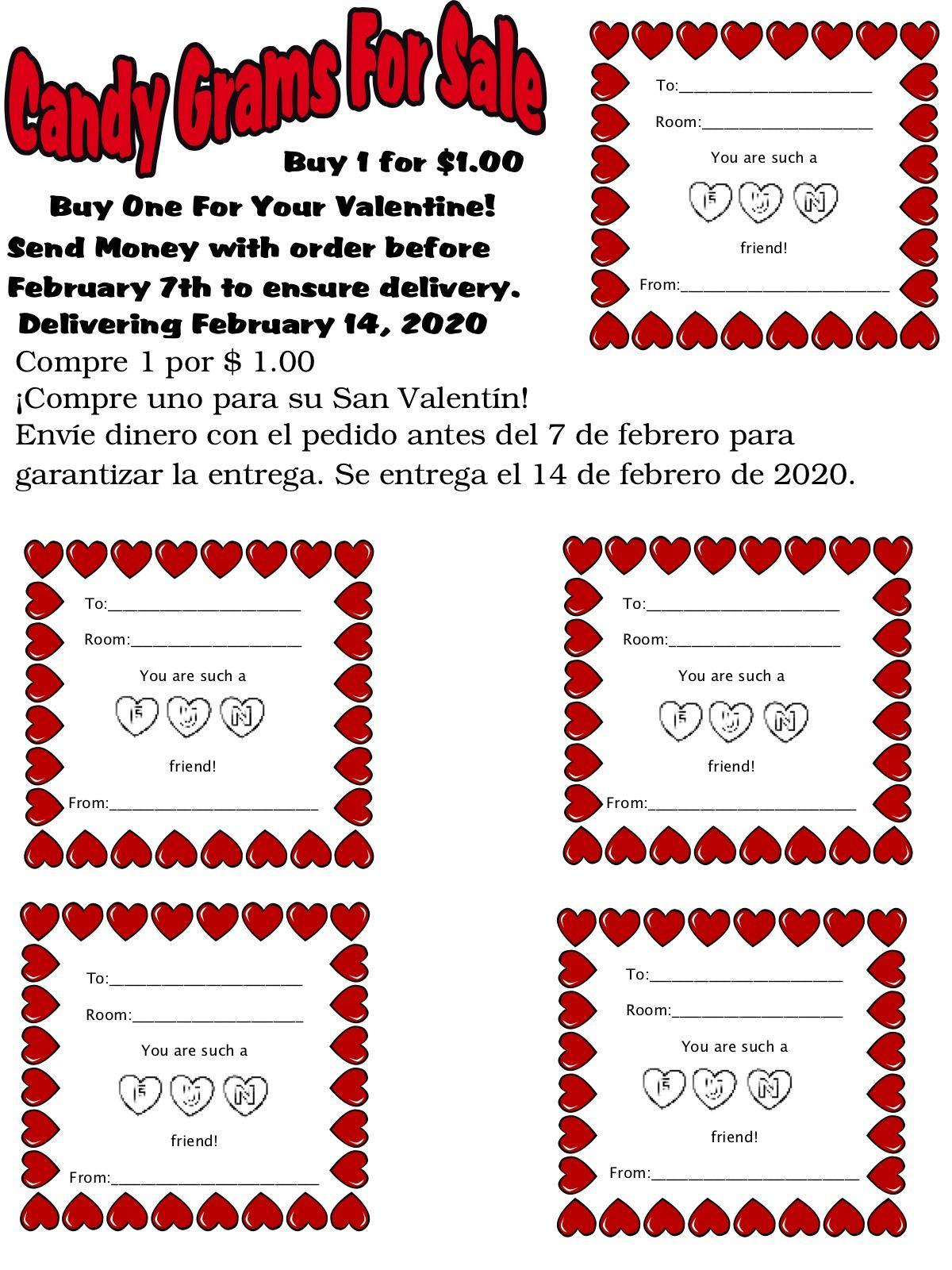 candy Gram flyer and link