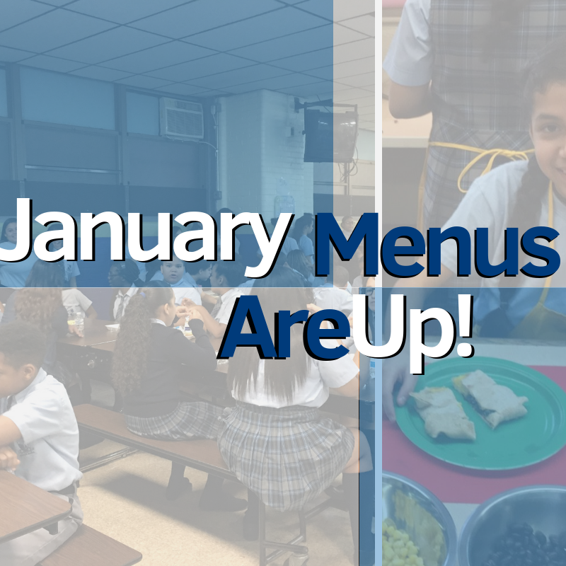 Check out the January Menus for Lunch & Breakfast Featured Photo