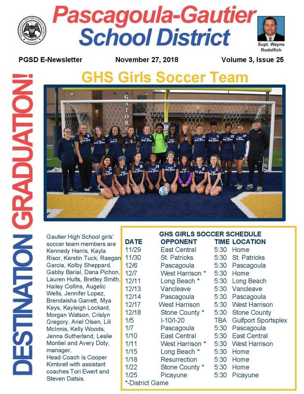PGSD E-Newsletter Volume 3, Issue 25