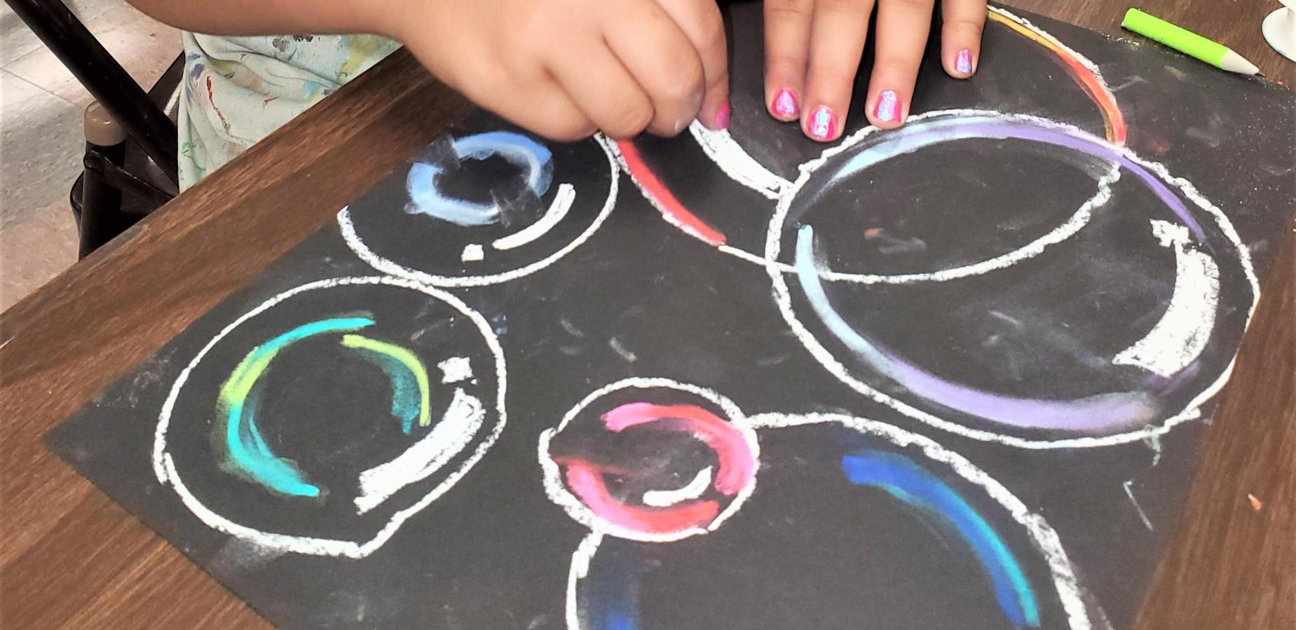 Bubble Science Project in Art Class