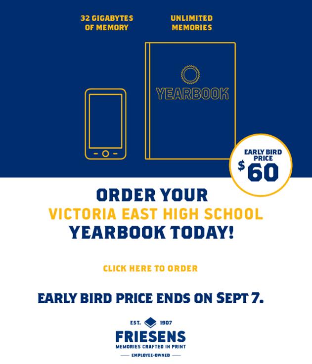 victoria east high school year book order flyer