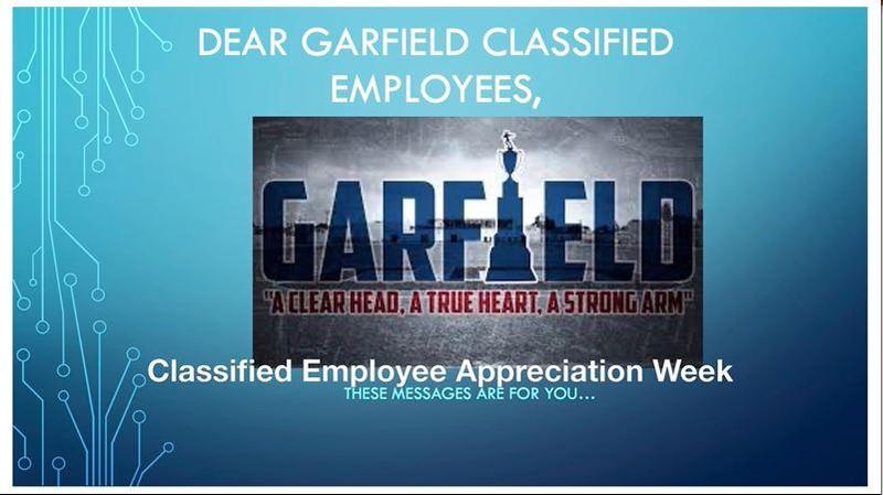 Happy classified employee week! Thank you for all your hard work! Here are some special messages from our GHS ASB students to you. Enjoy!