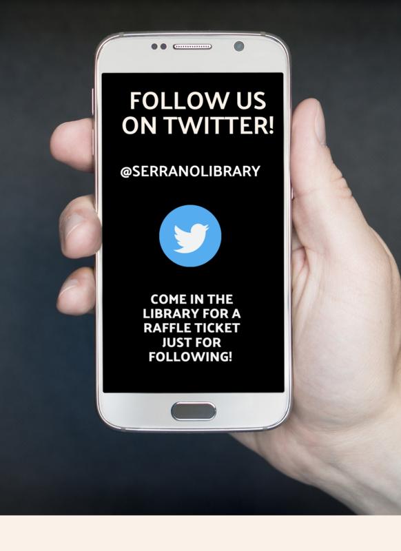 Follow Serrano Library on Twitter! Featured Photo