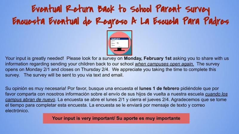 Back to School Survey to parents Featured Photo