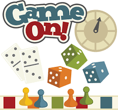 GAME ON - with pictures of board game pieces