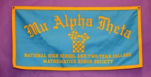 National Mathematics Honor Society banner