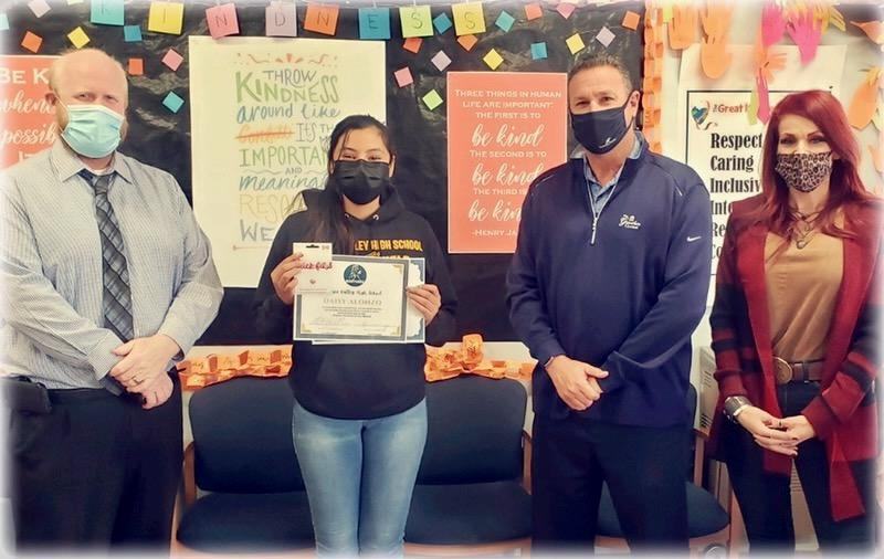 Daisy Alonzo Named Student of the Month Featured Photo