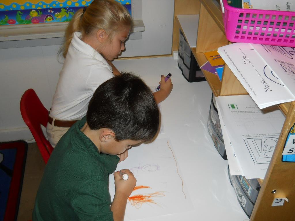 PreK writing center
