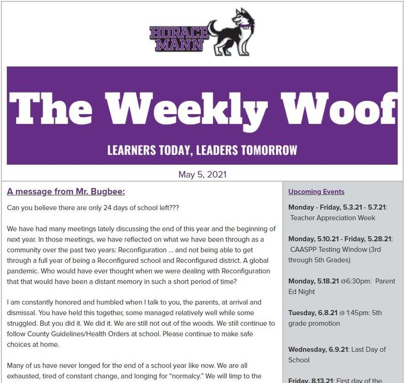The Weekly Woof Newsletter for May 5, 2021 Featured Photo