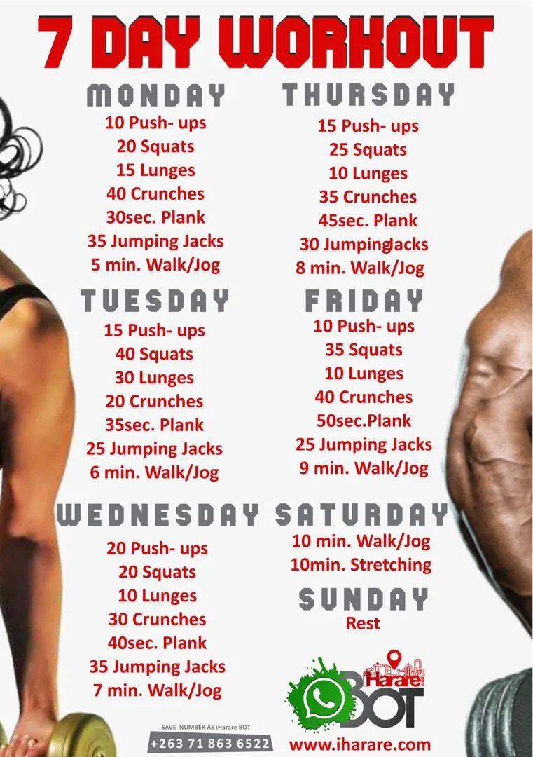 Seven Days of the Week Workout