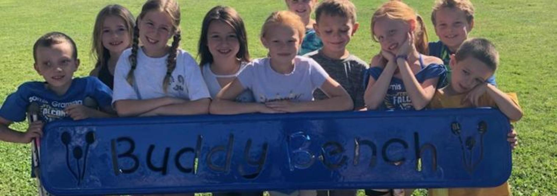 Students on Buddy Bench