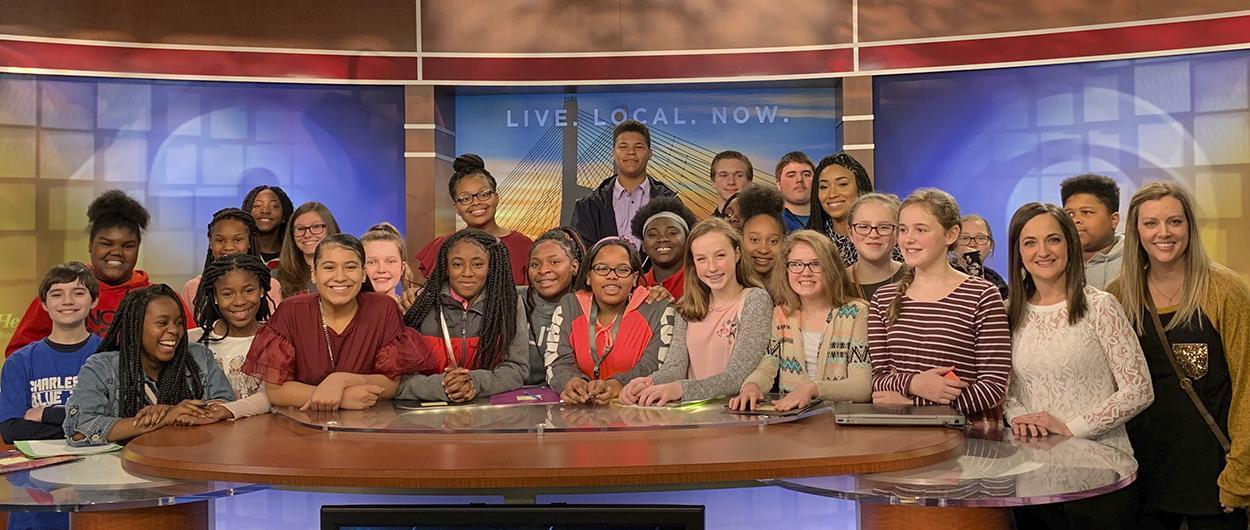 CMS students visit KFVS12 studios