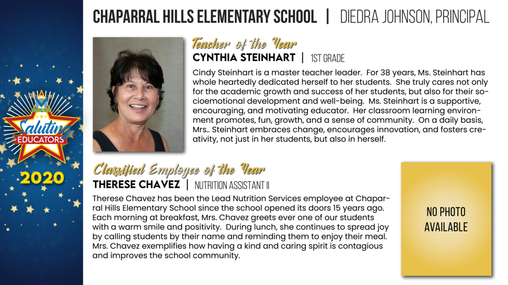 Chaparral Hills Elementary Employees of the Year