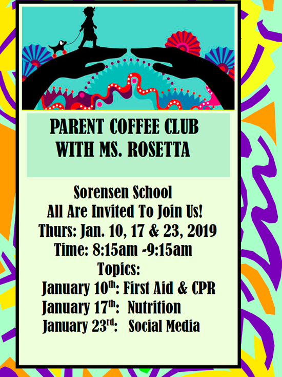 coffee with rosetta flyer