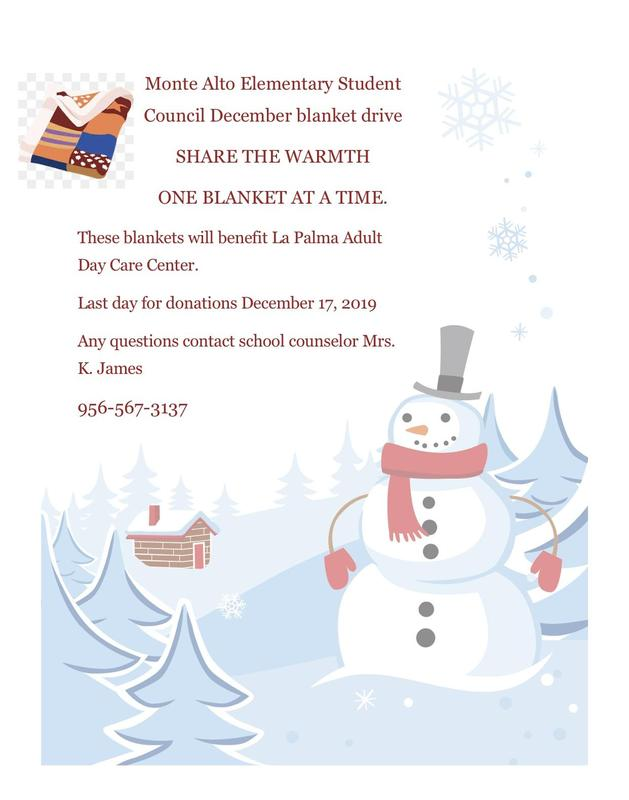 Student Council December Blanket Drive Featured Photo