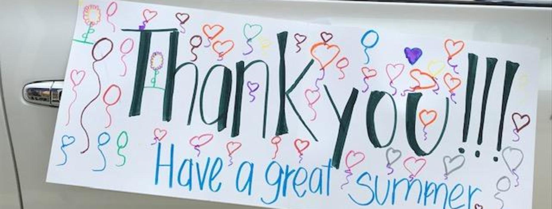 Marguerita family thanks staff during Drive-Thru event