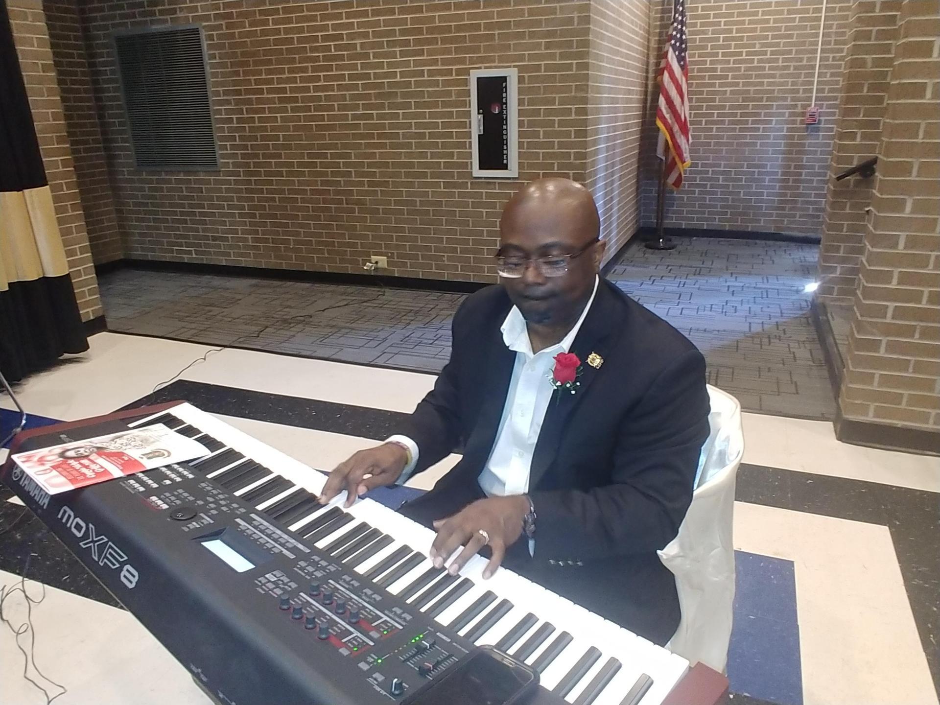 Mr. David Skinner, Jr. with BCHS G. Choir Singing for Birthday Celebration 2019-2020 School Year