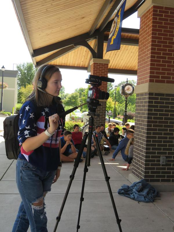 TKHS video students filmed the Patriot Day ceremony.