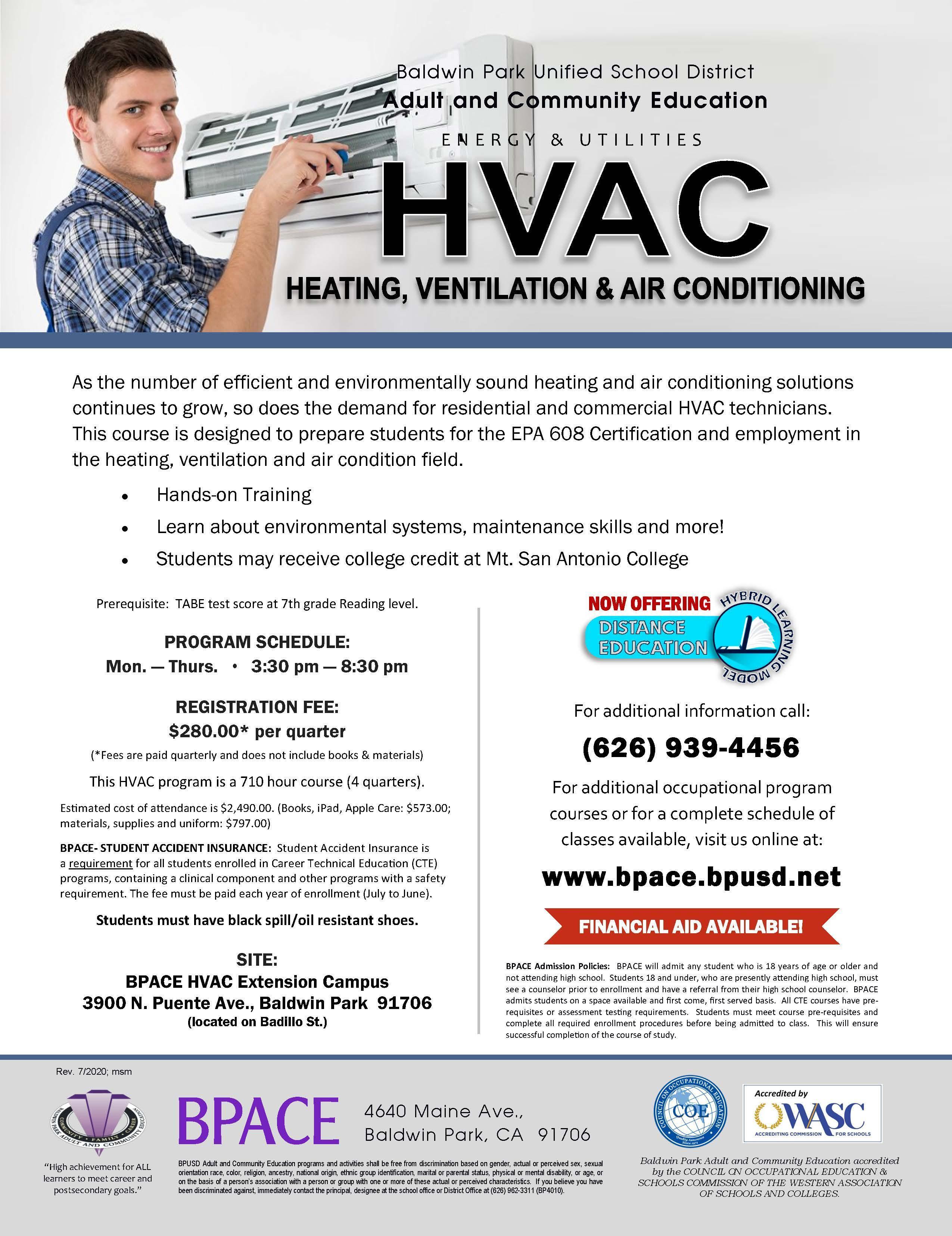 HVAC Class Flyer