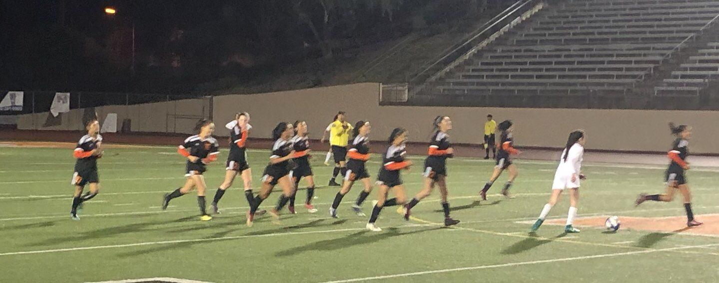 EHS Girls Soccer in the CIF playoffs